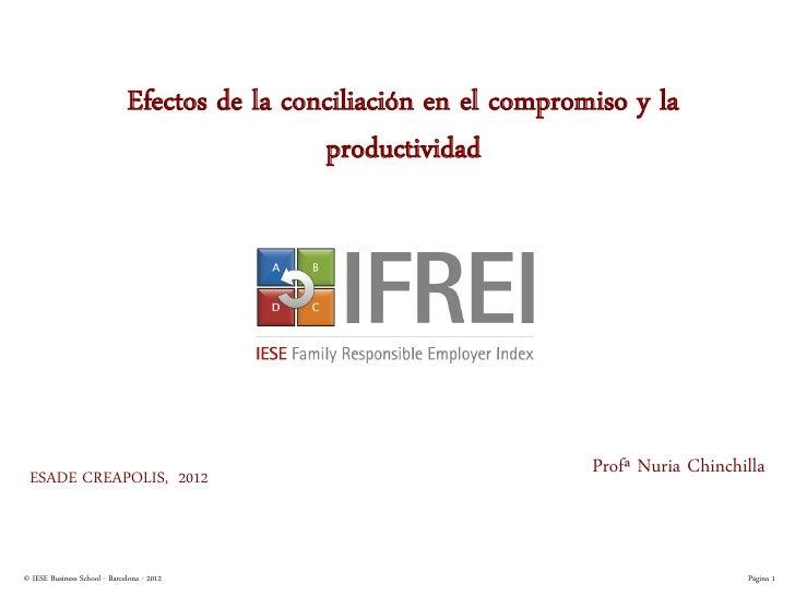 Efectos de la conciliación en el compromiso y la                                               productividad ESADE CREAPOL...