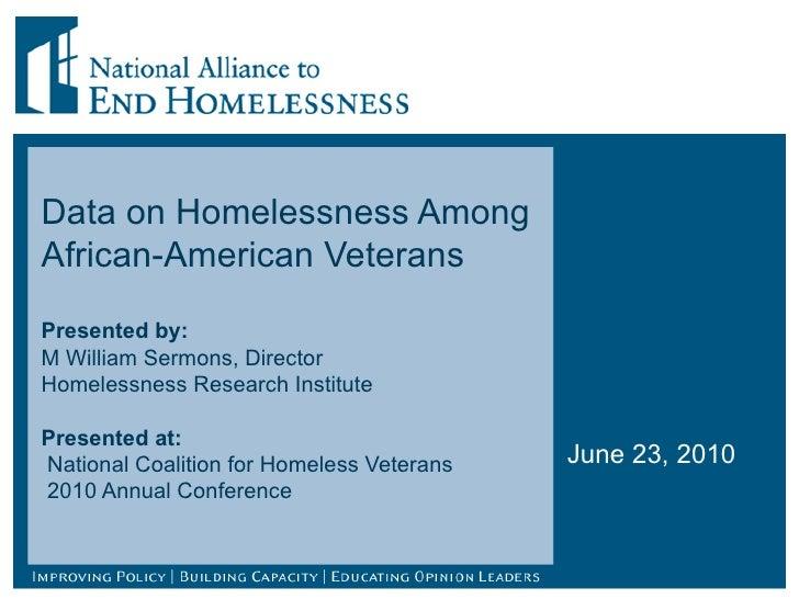 African American Homeless Veterans