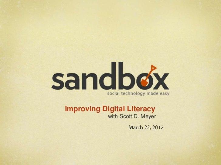 NCIIA Open 2012 - Improving Digital Literacy
