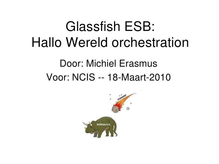 Glassfish ESB: Hallo Wereld orchestration     Door: Michiel Erasmus   Voor: NCIS -- 18-Maart-2010