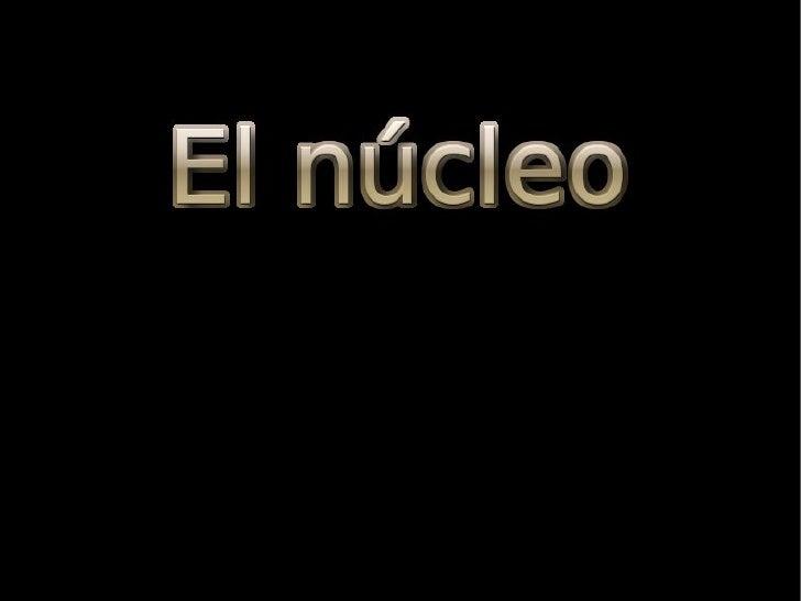 EL NÚCLEO                                                El núcleo es un orgánulo                                         ...