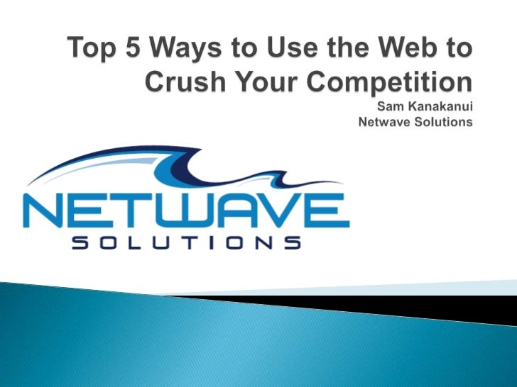    30-35 minutes of content + Q&A   Vast topic so we are focusing on high level    tactics   Top tools and websites to ...