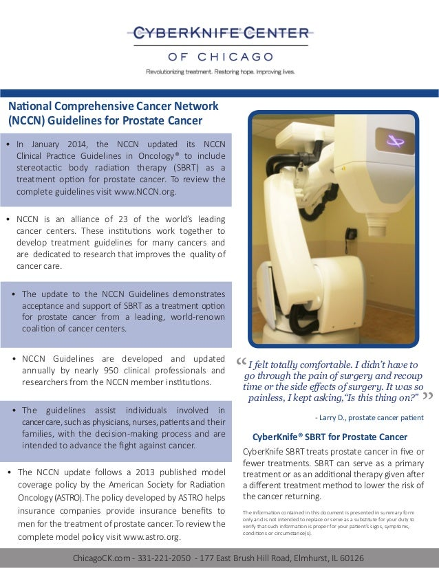 National Comprehensive Cancer Network Updates Guidelines for Prostate Cancer Treatment