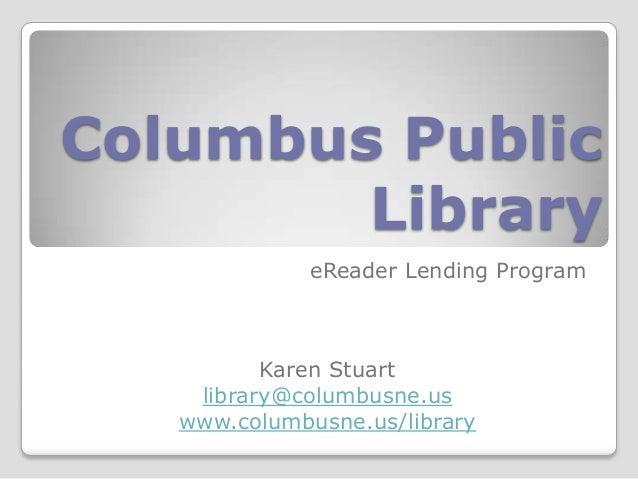 NCompass Live: Columbus Public Library, eReader Lending Program