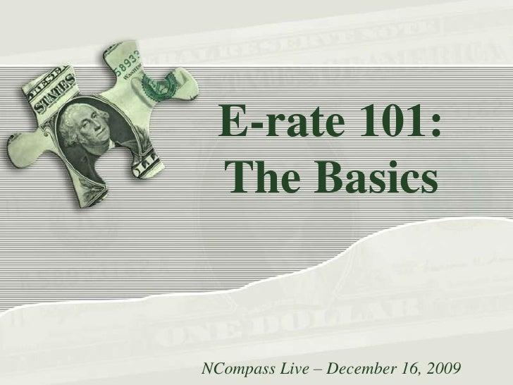 NCompass Live: E-rate 101: The Basics