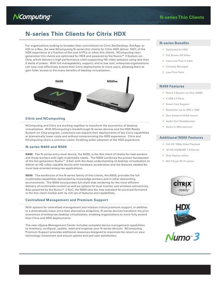 N-series Thin ClientsN-series Thin Clients for Citrix HDX                                                                 ...