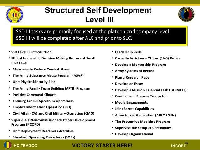 Nco Structured Self Development Brief Ppt