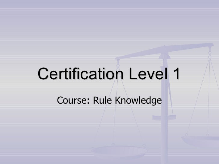 NCP Level 1 Rules Presentation