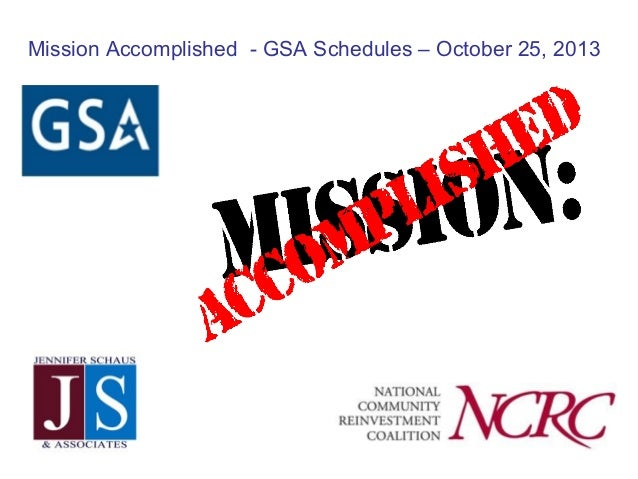 GSA Schedules - The Whole Package - MISSION Accomplished with NCRC
