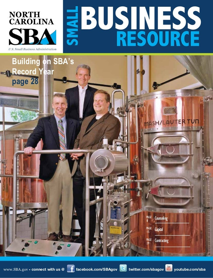 BUSINESS                              SMALL  NORTH  CAROLINA                                                    RESOURCE  ...