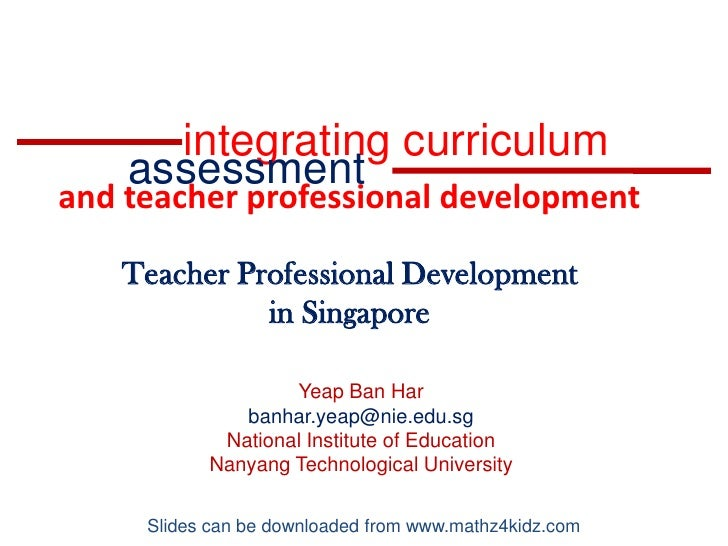 NCSM2010 Annual Conference San Diego Yeap Ban Har's presentation on professional development of Singapore mathematics teachers.