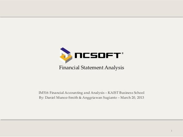 Financial Statement Analysis               IM516 Financial Accounting and Analysis – KAIST Busine...