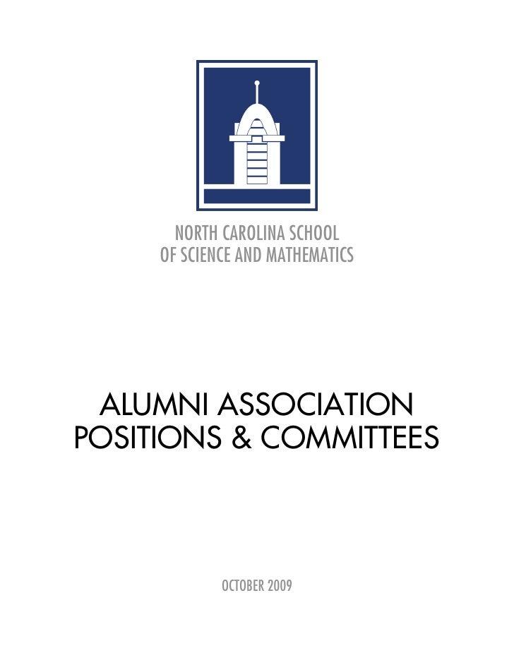 NCSSM Alumni Board Positions & Committees