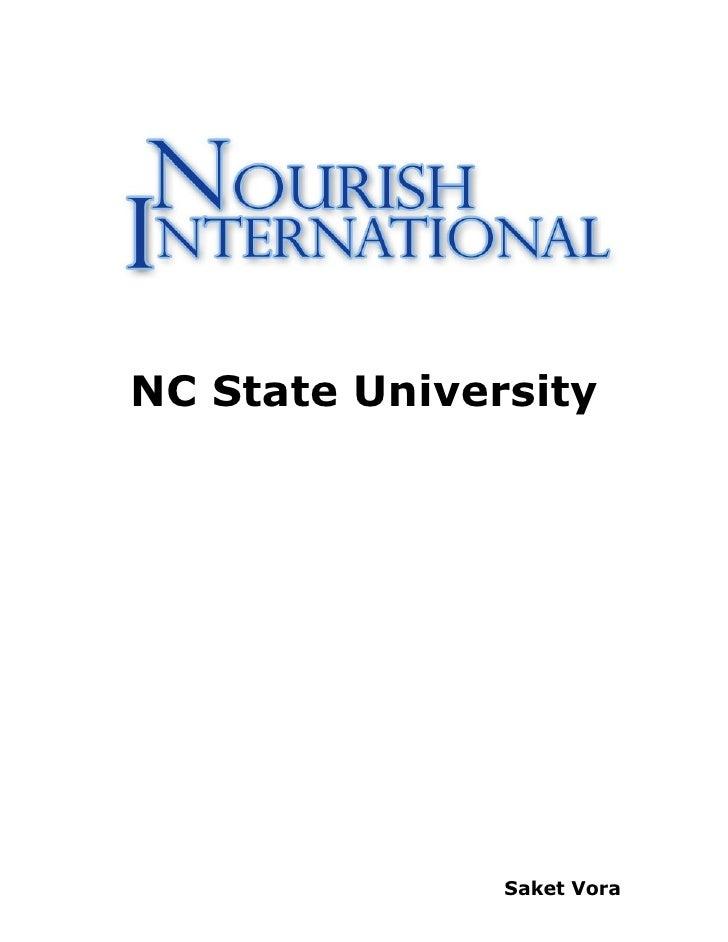 NC State University                    Saket Vora