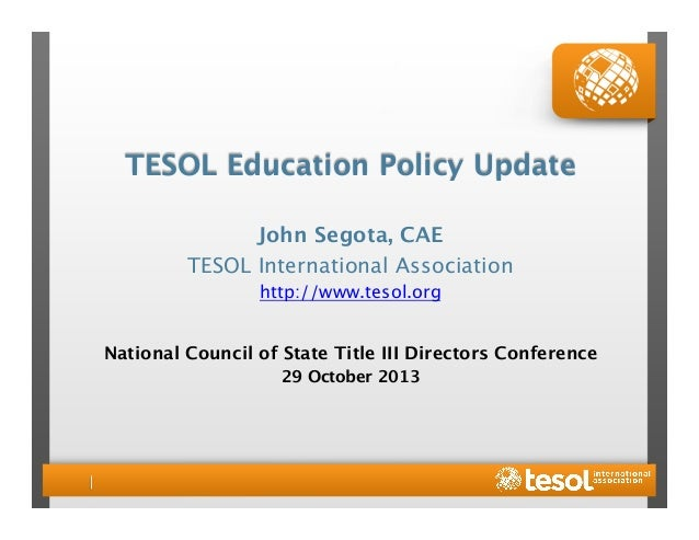 TESOL Education Policy Update