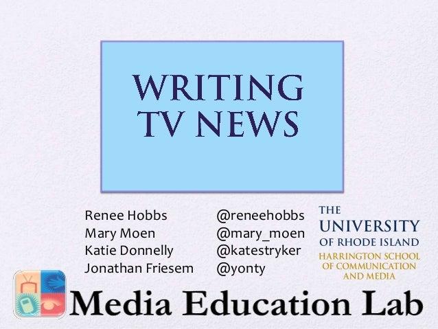 Writing TV News