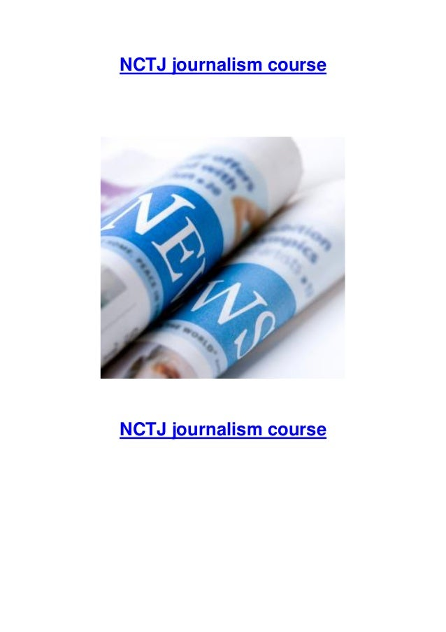 NCTJ journalism course diploma online
