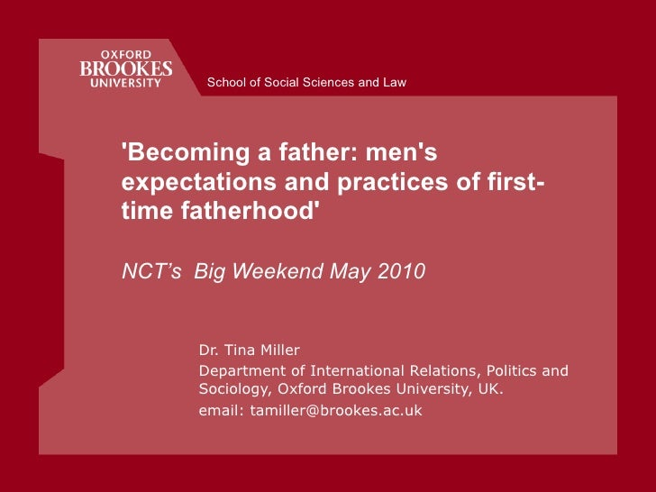 Becoming a father: Men's expectations and practice of first-time fatherhood