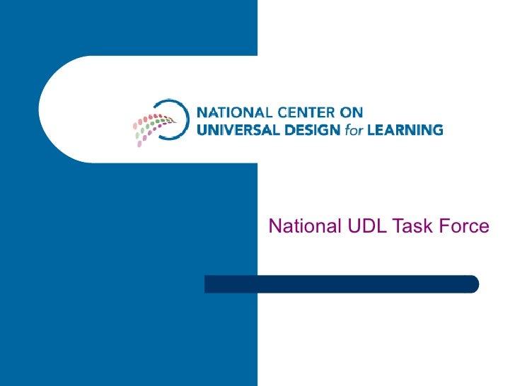 National UDL Taskforce