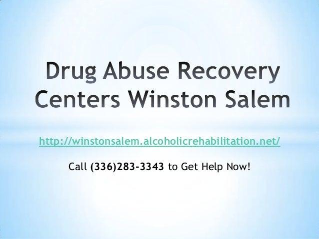 Drug Abuse Recovery Centers Winston Salem