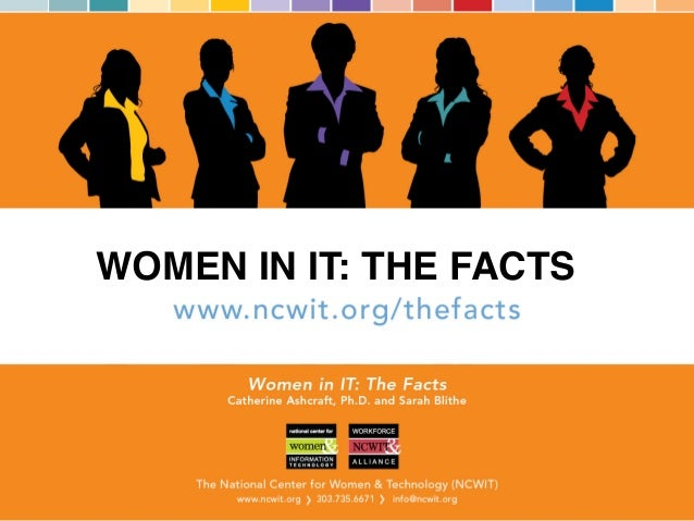 WOMEN IN IT: THE FACTS!