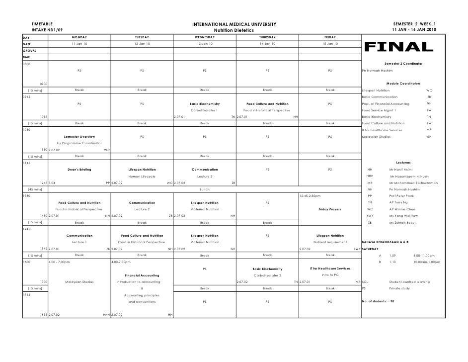 Nd109 sem 2 timetable 1[1]