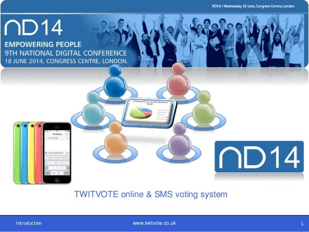 TWITVOTE online & SMS voting system Introduction www.twitvote.co.uk 1.