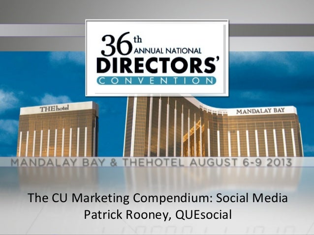 National Directors Conference - Social Marketing for Credit Unions