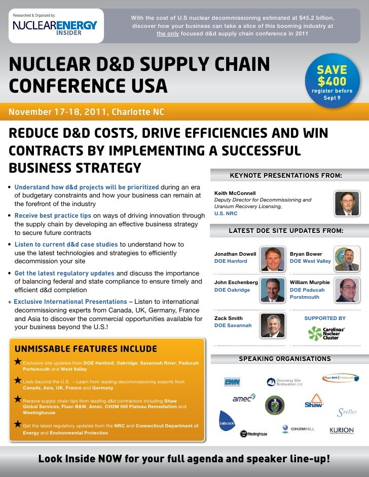 Researched & Organized by:                                                       With the cost of U.S nuclear decommission...