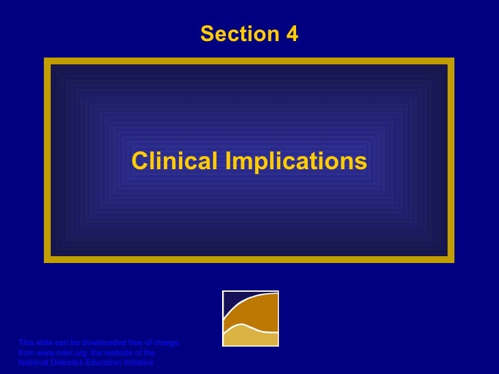 Section 4 Clinical Implications