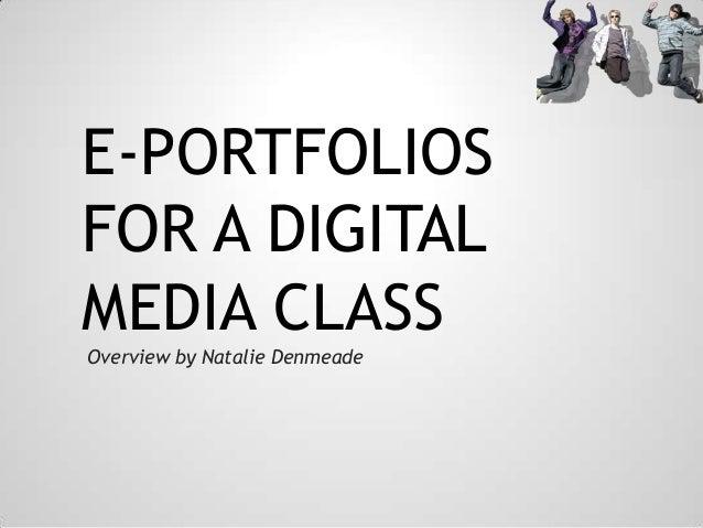 E-Portfolios for digital Media class