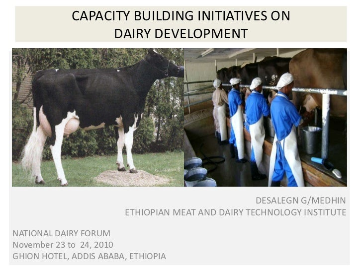 CAPACITY BUILDING INITIATIVES ON DAIRY DEVELOPMENT<br />DESALEGN G/MEDHIN<br />ETHIOPIAN MEAT AND DAIRY TECHNOLOGY DE<br /...