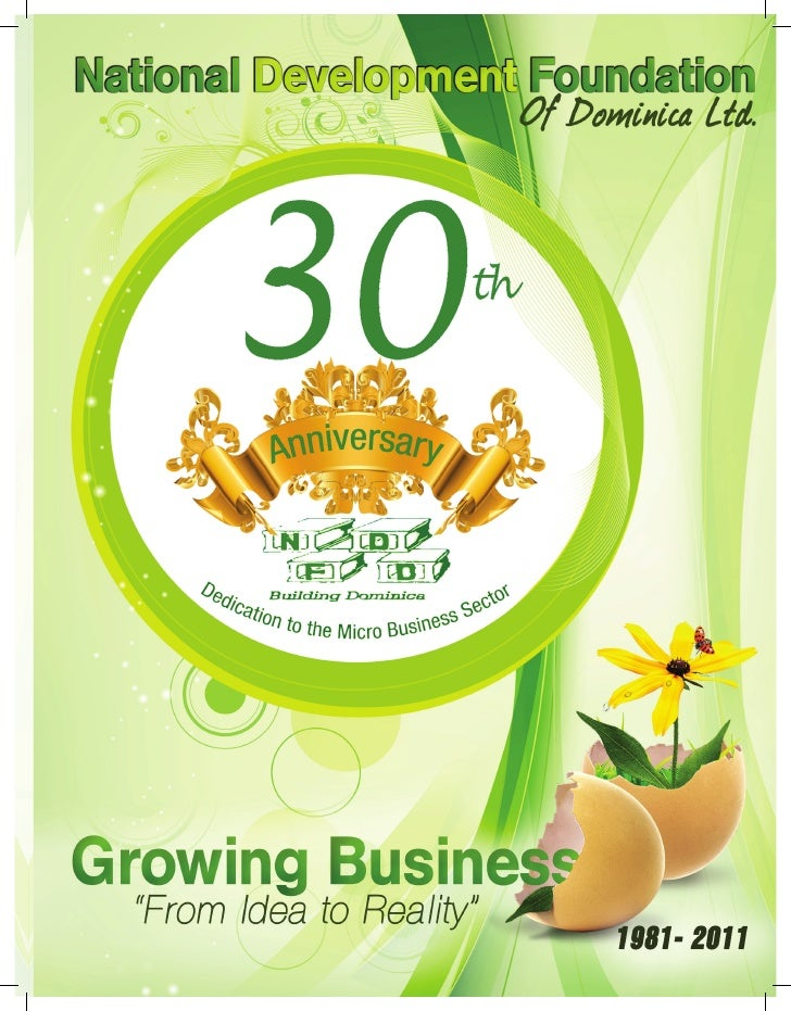 """30 years of Dedication to the Micro Business Sector""                                                    1"