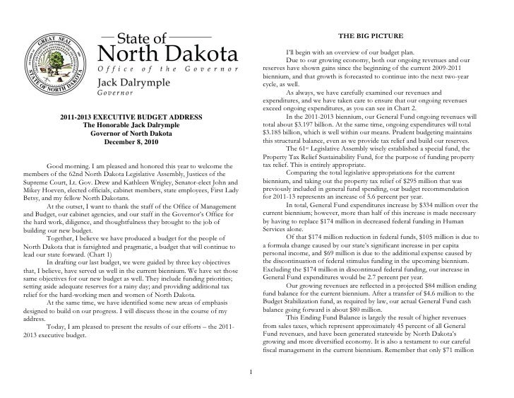 Nd governors 2010_budget_address