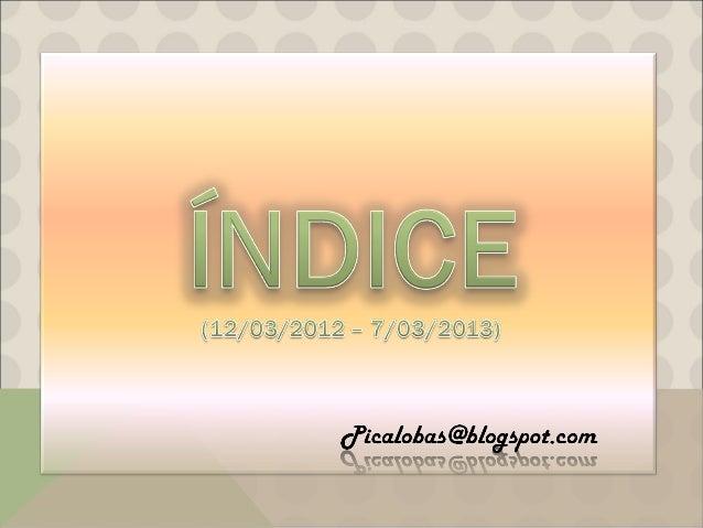 Índice del blog de Picalobas
