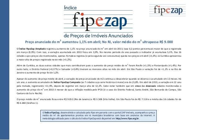 Índice FIPE ZAP  divulgação Abril de 2013