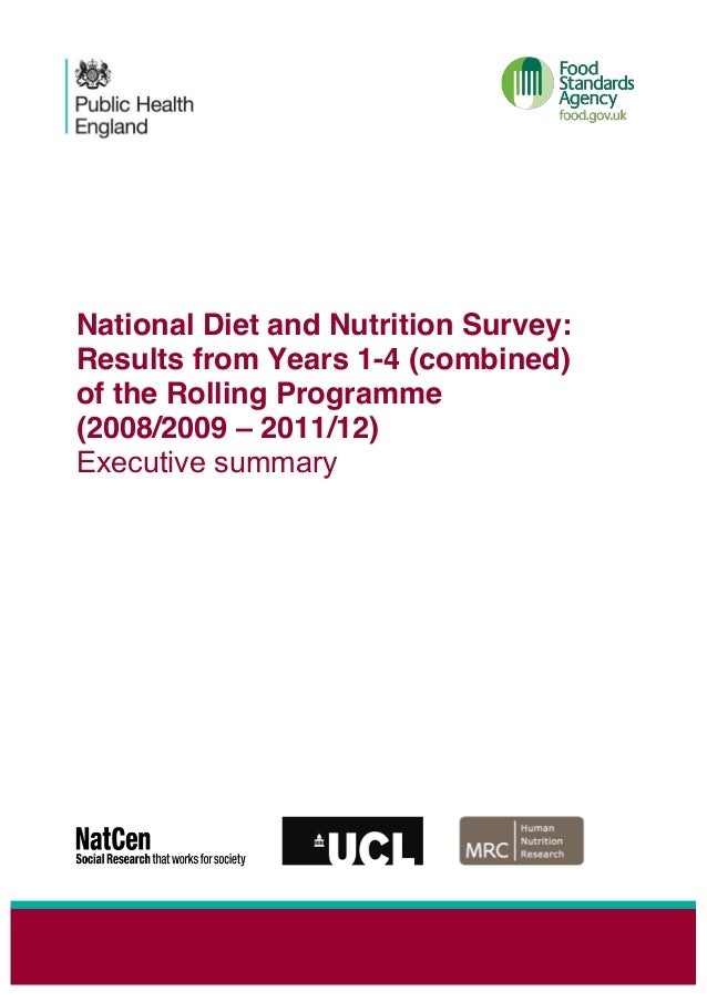 National Diet and Nutrition Survey: Results from Years 1-4 (combined) of the Rolling Programme (2008/2009 – 2011/12) Execu...