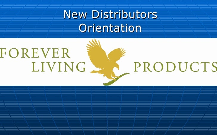 New Distributors Orientation
