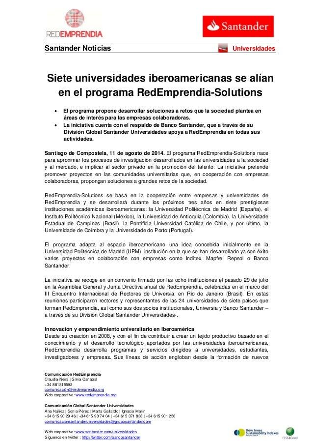 Comunicación RedEmprendia Claudia Neira | Silvia Canabal +34 881815592 comunicación@redemprendia.org Web corporativa: www....