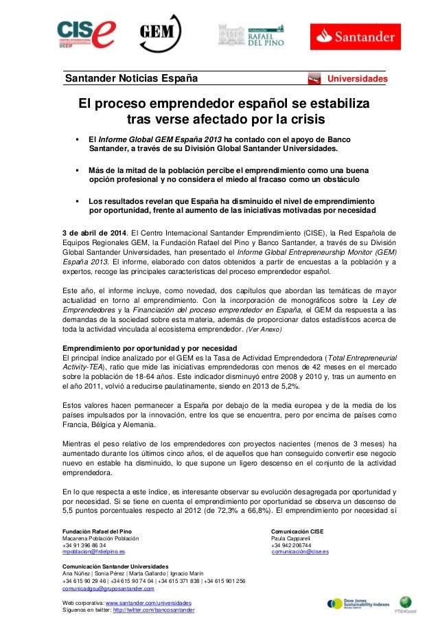 El proceso emprendedor español se estabiliza tras verse afectado por la crisis