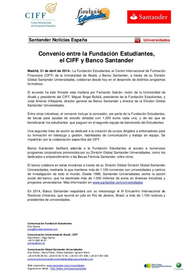 Comunicación Fundación Estudiantes Eire García eireg@clubestudiantes.com Comunicación Universidad de Alcalá / CIFF Dácil M...