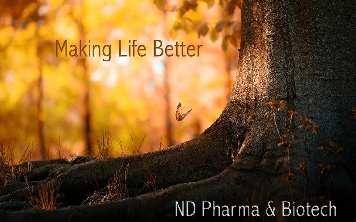 Nd pharma making life better