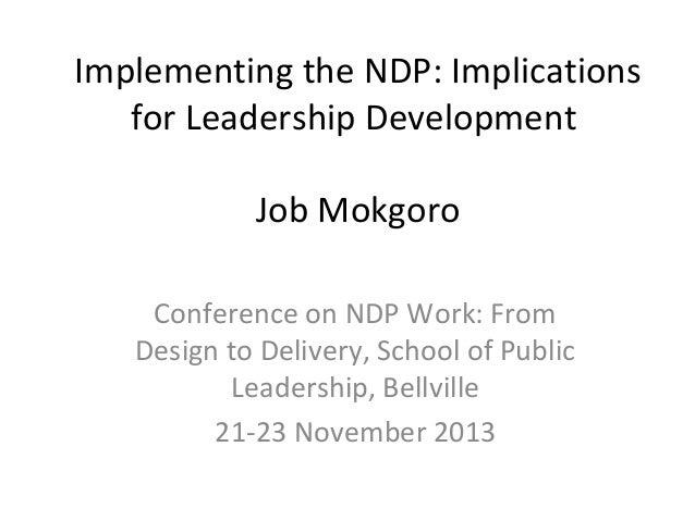 Ndp leadership development mokgoro