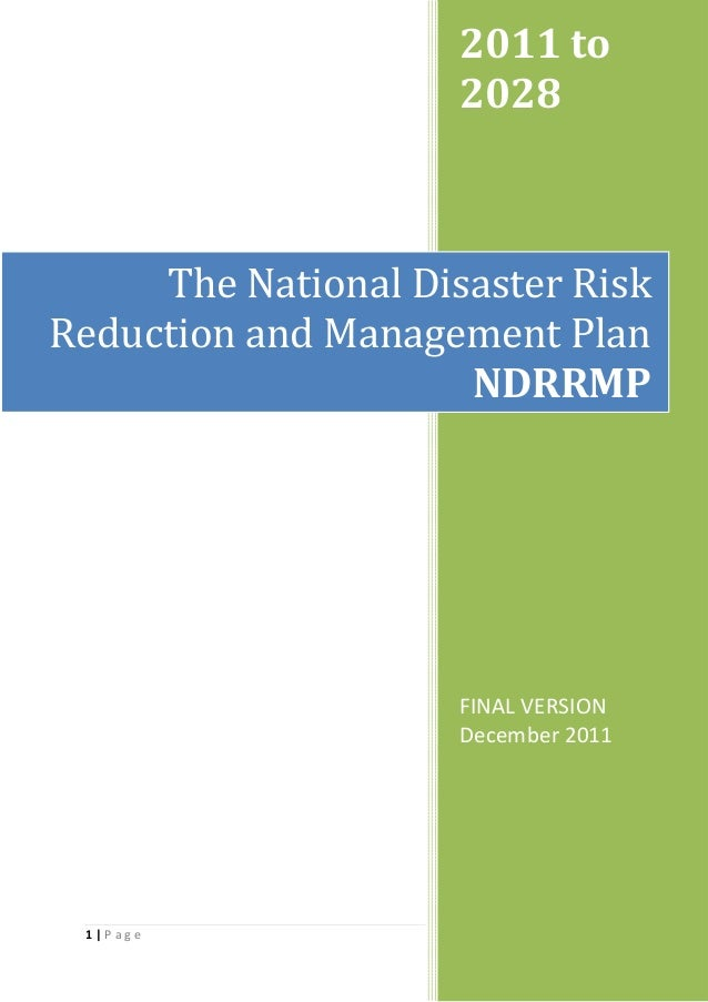 National Disaster Riask Reduction and Management Plan