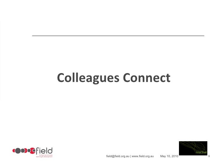 Colleagues Connect presentation at NDS  conference
