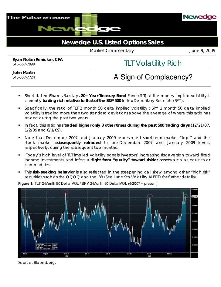 Newedge U.S. Listed Options Sales                                             Market Commentary                           ...