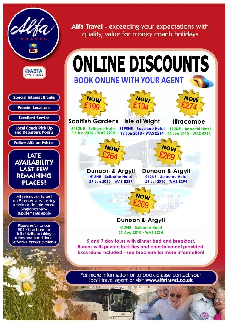 Alfa Travel Online Offers for departures from North East