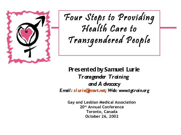 Four Steps to Providing Health Care to Transgendered People