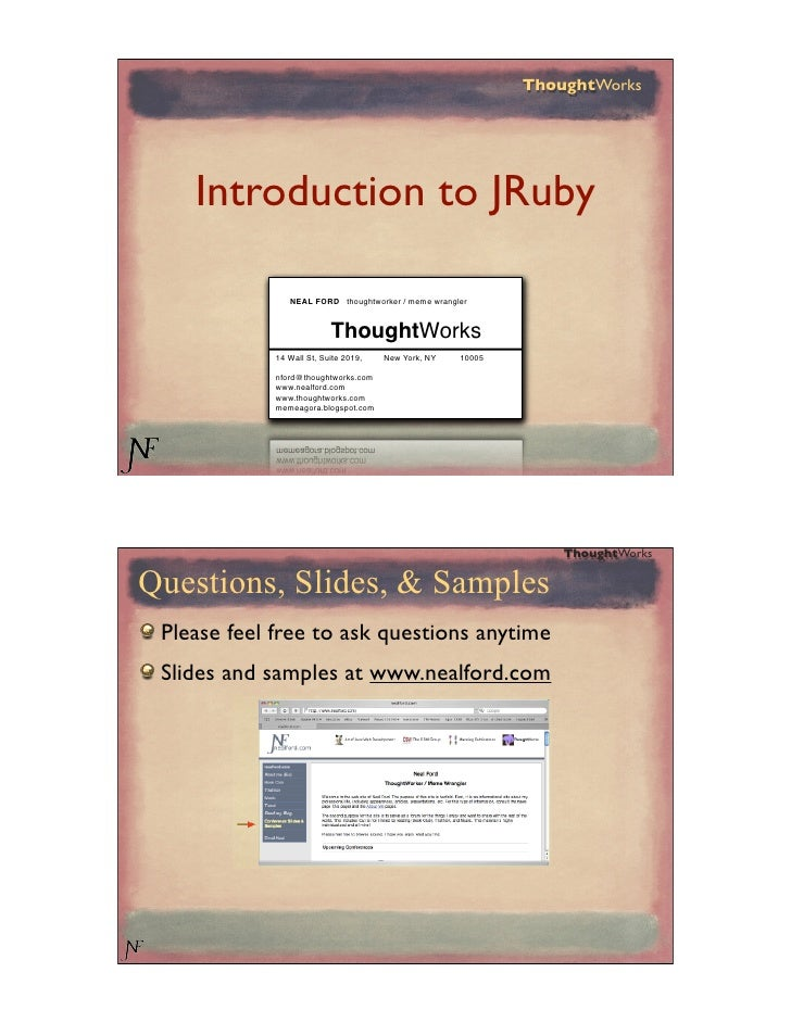Introduction to JRuby