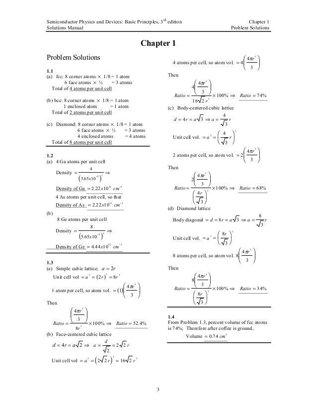 neamen solution manual for semiconductor physics and solution manual advanced semiconductor fundamentals robert f pierret solution manual advanced semiconductor fundamentals robert f pierret